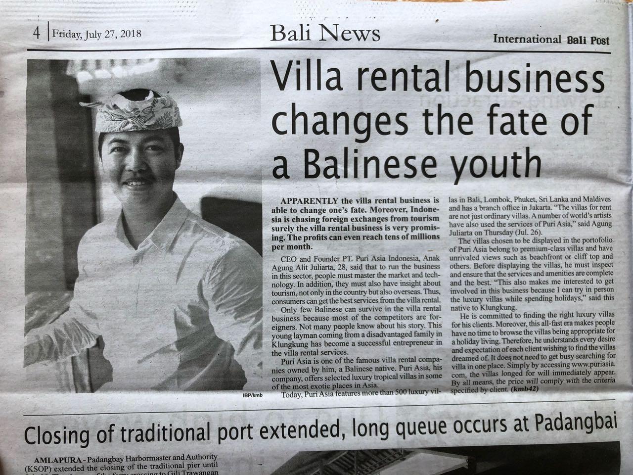 Bali News, Puri Asia