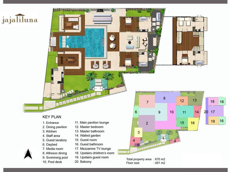 Jajaliluna Villa Seminyak Four Bedrooms Luxury Bali Villa Puri Enchanting Bali 4 Bedroom Villa Plans