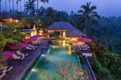 Villa Awan Biru - Villa Aerial at Night