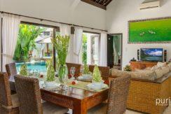 Villa Cempaka - Living Room and Dinning area