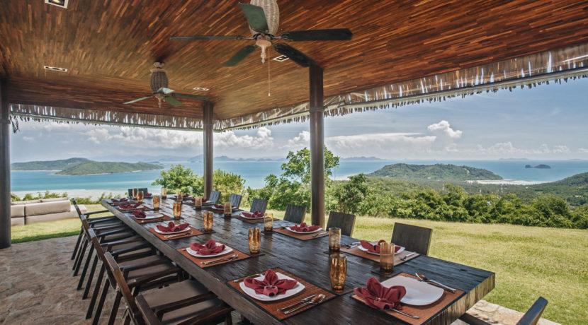 Villa Katrani - Dining with Ocean View Villa