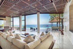 Villa Bidadari Cliffside Estate - Living and Dining Room