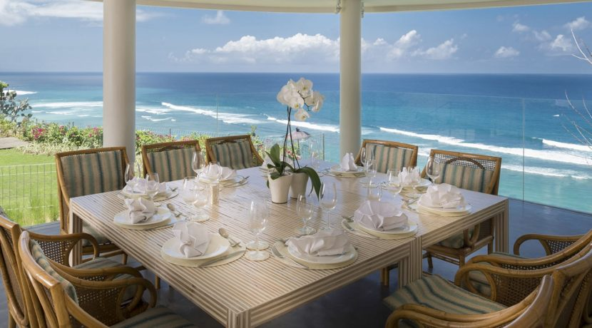 Pandawa Cliff Estate - Markisa Perfect Dining Setting with Ocean View