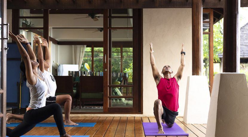 Villa Waimarie - In-villa yoga service