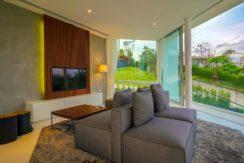 Villa Abiente - TV room stunning outlook