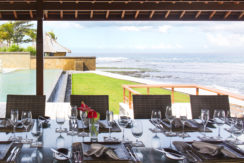 2. Villa Bayu Gita Beachfront - Open air dining