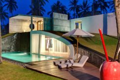 23.-Villa-Sapi---Guest-house-dowstair-pool-at-night