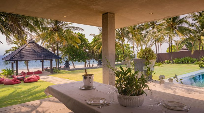 Villa Saanti - View from outdoor dining