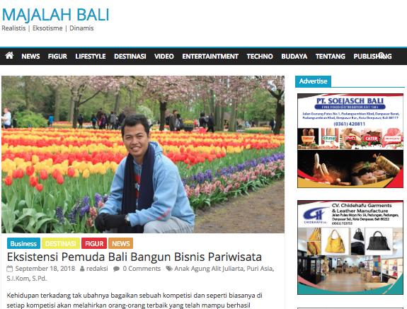Majalah Bali , 17 Sep 2018