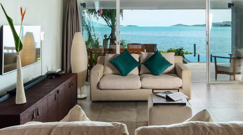 Baan Dalah Villa - Lounge with magnificent view