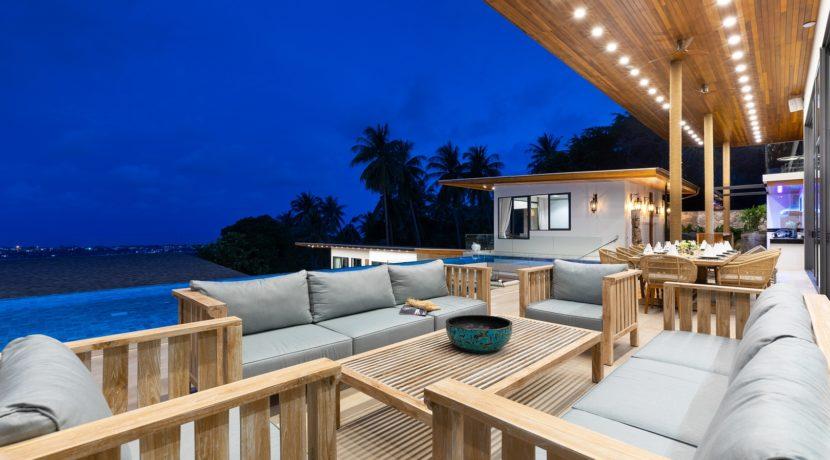 Villa Asi - Living and Dining at Night