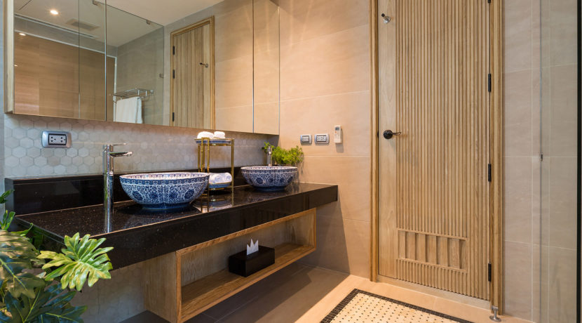 Angthong Villa - Bedroom one ensuite bathroom layout