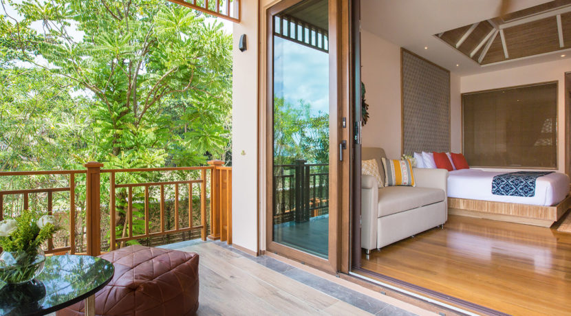 Angthong Villa - Bedroom one with private terrace