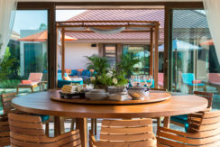 Angthong Villa - Dining area overlooking the pool